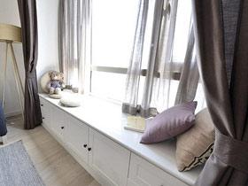溫馨客廳角落 15款簡約風格飄窗圖片