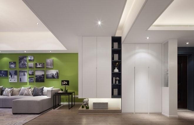 现代简约风格三室一厅灰色装修效果图
