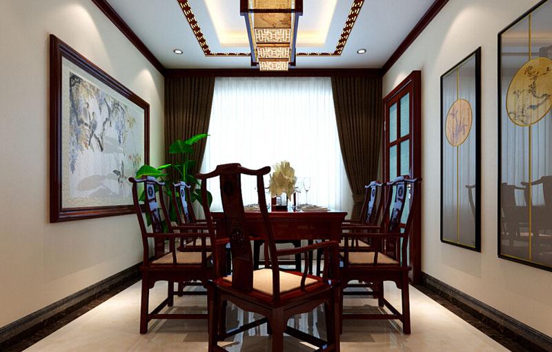 中式古典餐厅设计效果图