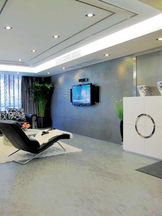 现代奢华客厅设计效果图