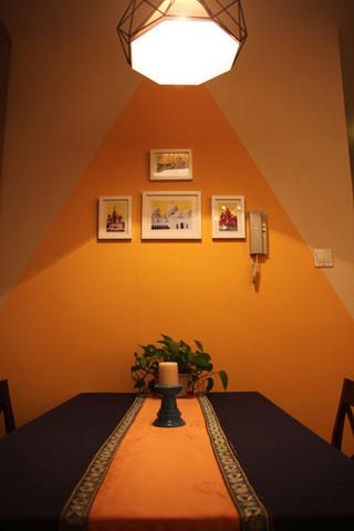浪漫餐厅背景墙设计效果图