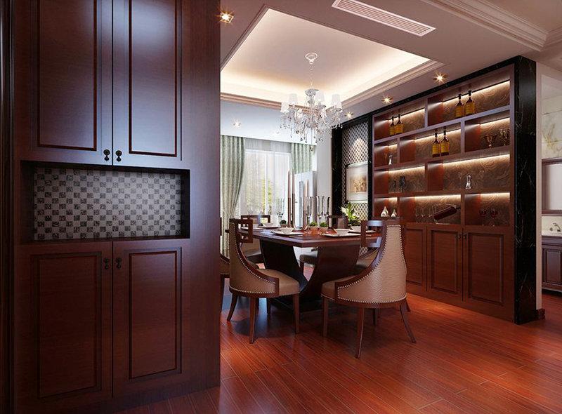 20万以上130平米简约三居室装修效果图,现代简约136平3居室装修案高清图片
