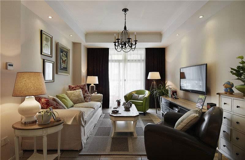 实用美式客厅设计效果图