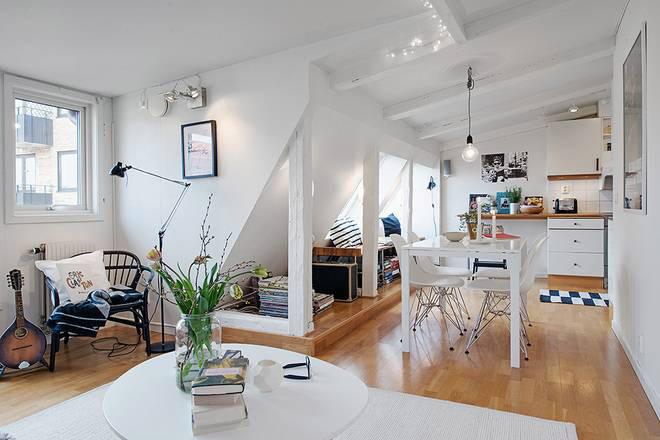 北欧风格一居室70平米效果图