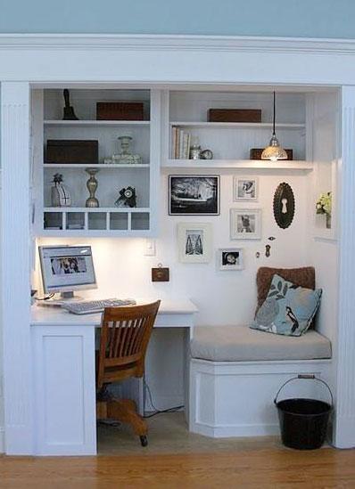 蜗居壁橱小书房设计