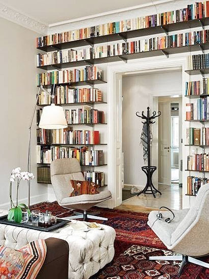 白色简约书墙背景墙