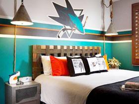自己动手打造 12款青年卧室手绘墙