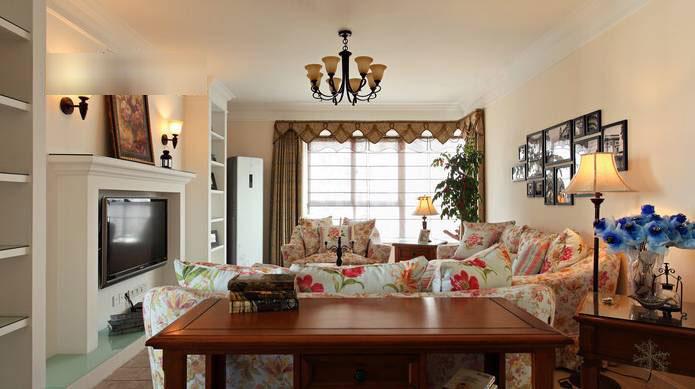 温馨美式客厅设计效果图