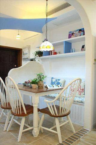 地中海风格三居室90平米设计图