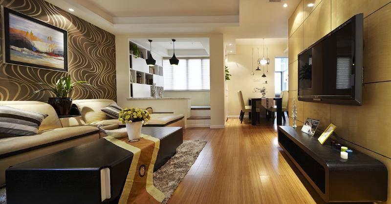 现代温馨客厅设计效果图