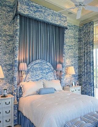 卧室卧室蓝色窗帘