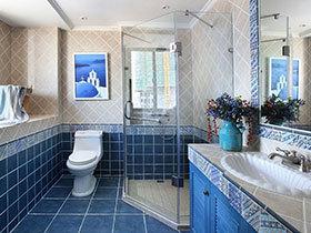 卫浴间里的夏天 12款地中海卫浴间