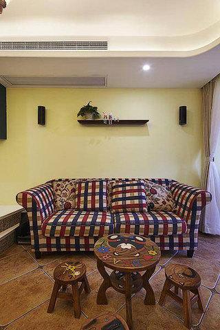 地中海沙发背景墙设计效果图