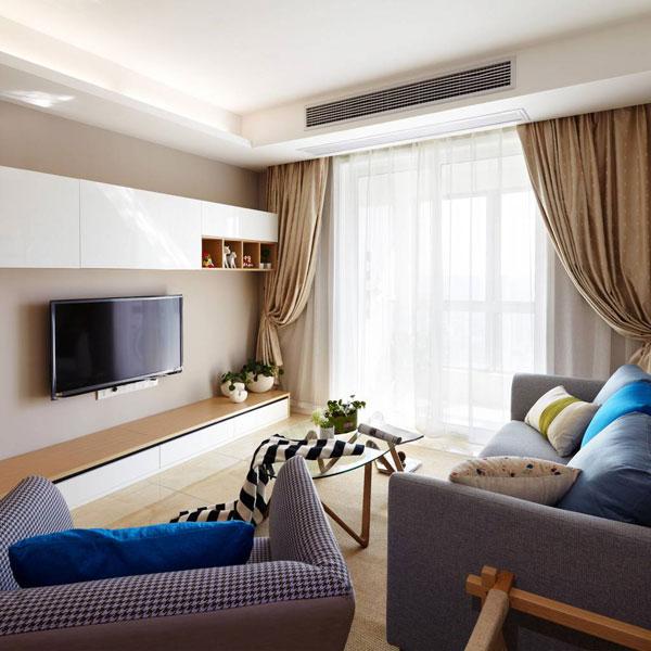 现代电视背景墙设计效果图