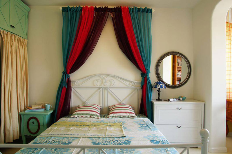 地中海风格三居室80平米效果图