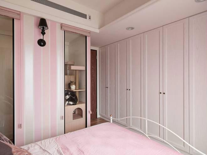 混搭风格三居室温馨110平米设计图