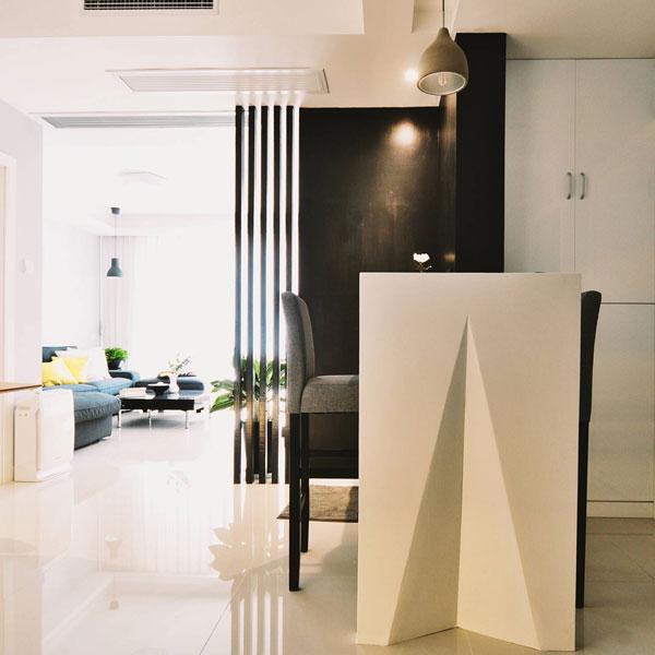 现代简约风格二居室黑白60平米设计图纸