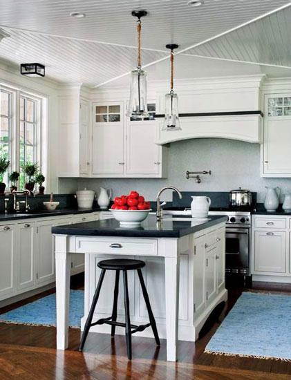 白色简约风格开放式厨房