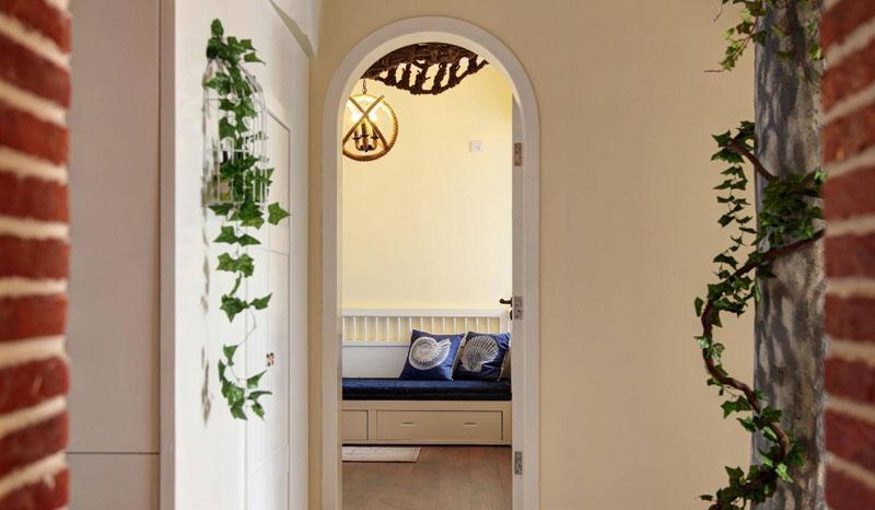 田园风格二居室90平米装修效果图