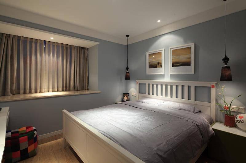 20万以上130平米简约三居室装修效果图,简约风格3房2厅装修案例效高清图片