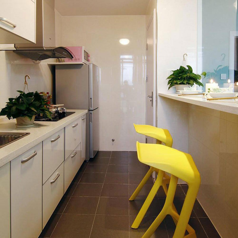 简约厨房吧台设计效果图