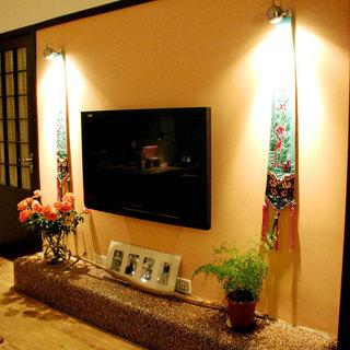 田园简洁电视背景墙设计效果图
