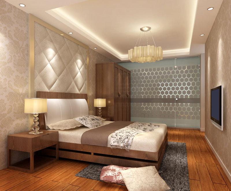 15 20万130平米简约三居室装修效果图,花语水岸装修案例效果图 齐高清图片