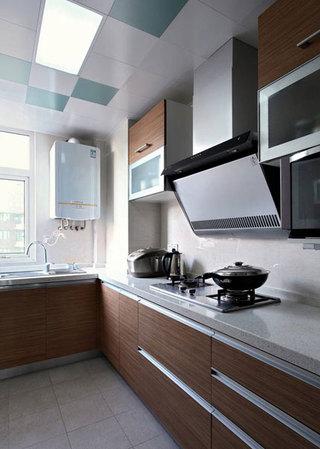 现代简洁厨房设计效果图