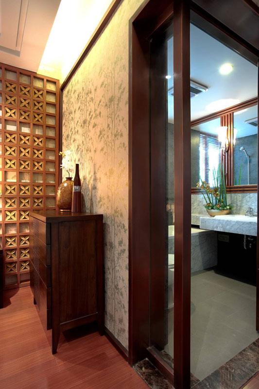 东南亚风格三居室140平米以上效果图