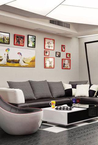 现代简约沙发背景墙设计效果图