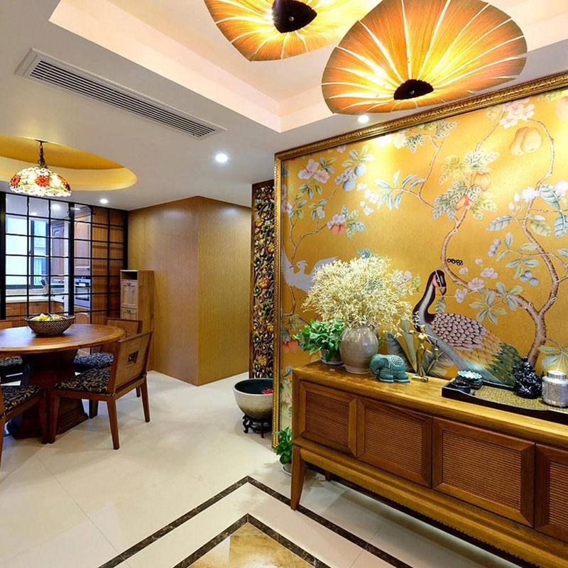 东南亚电视背景墙设计效果图
