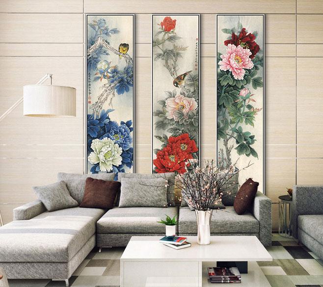 新中式客厅背景墙装饰画