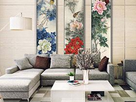 古典新中式客厅效果画 奢华与优雅的完美结合