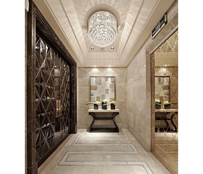 20万以上130平米欧式别墅装修效果图, 经典佳作奢华欧式装修案例效高清图片