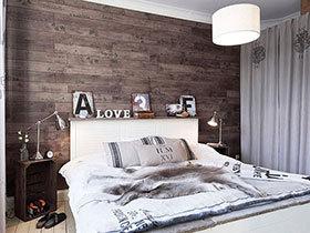 地板爬上墙 13款卧室木质背景墙设计