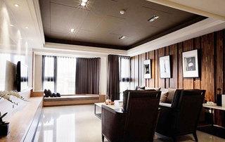 实木拼接木质沙发背景墙