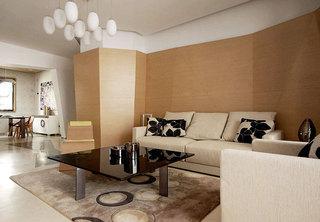 原木色沙发背景墙