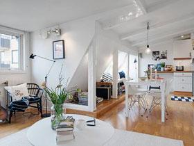 明净简洁北欧风 小户型公寓实景图