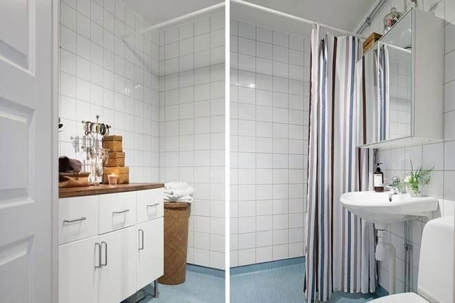 北欧白色卫生间设计效果图