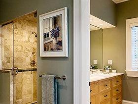 卫浴间也有好风景 12款卫浴间背景装饰画