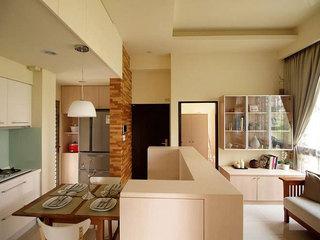 宜家风格二居室简洁80平米效果图