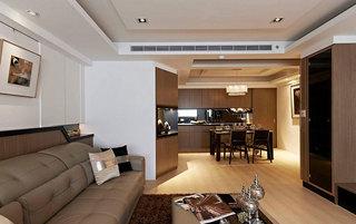 现代简约风格二居室130平米效果图