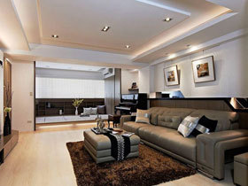 简练线条感 130平现代二居设计
