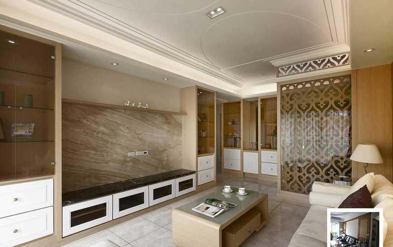 欧式温馨客厅设计效果图图片