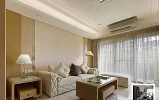 欧式风格三居室温馨90平米设计图纸