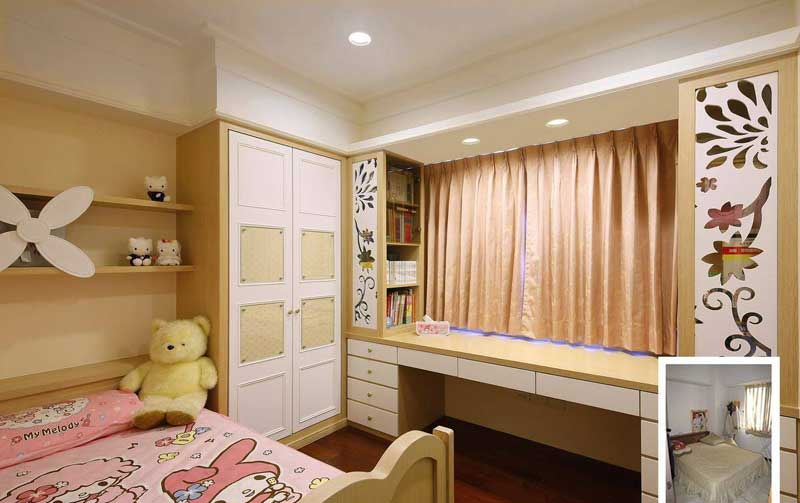 欧式风格三居室温馨90平米效果图