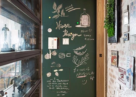 打造完美涂鸦区 小黑板营造大情调