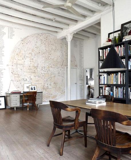 客厅创意地图壁纸