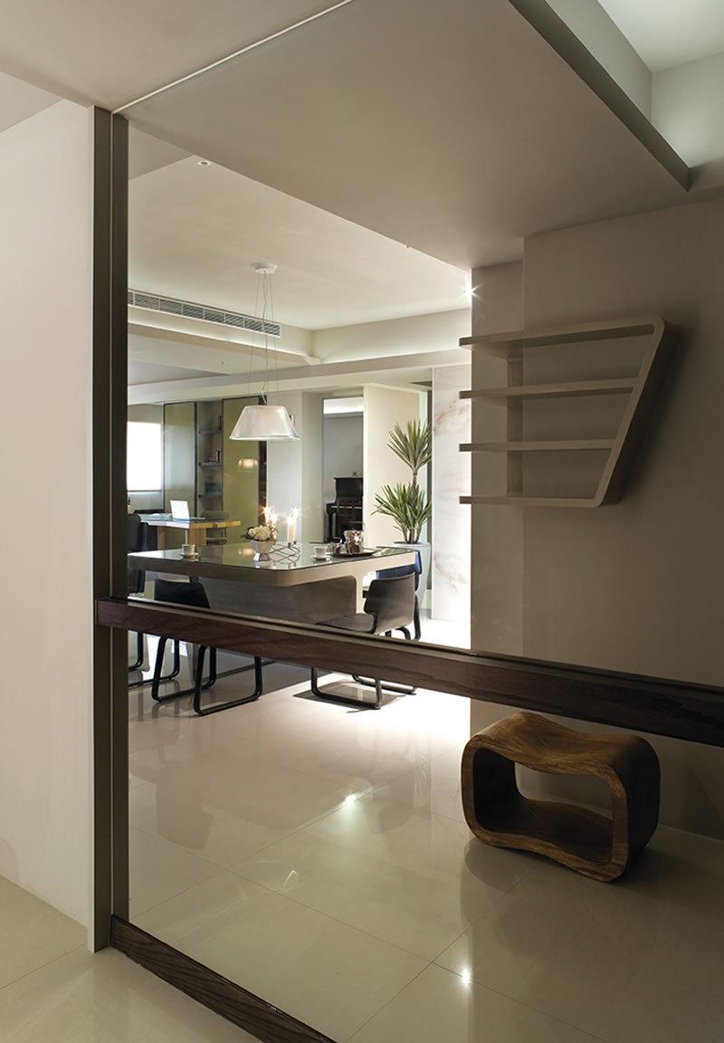3 5万90平米简约三居室装修效果图,简约 旭日爱上城90平 案例装修案高清图片