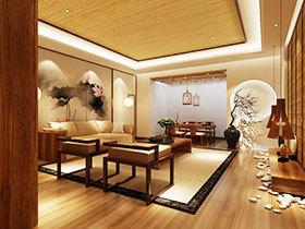 11图禅意中式客厅 打造轻灵空间